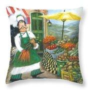 Market Chef Throw Pillow