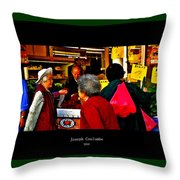 Market Day In Chinatown  Throw Pillow