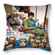 Market Fish Throw Pillow