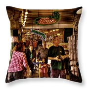 Market Fresh At Pike Place Market Throw Pillow