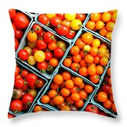 Market Fresh Tomatos Throw Pillow