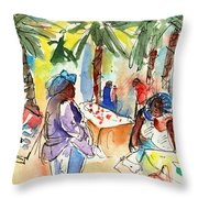 Market In Teguise In Lanzarote 03 Throw Pillow