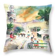 Market In Teguise In Lanzarote 07 Throw Pillow