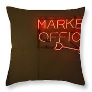 Market Office To The Right Throw Pillow