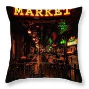 Market On Houston Throw Pillow