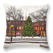 Market Square Christmas - 2013 Throw Pillow