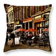 Market Square - Knoxville Tennessee Throw Pillow