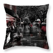 Market Square Shoppers - Knoxville Tennessee Throw Pillow