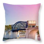 Market Street Bridge Throw Pillow