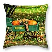 Market Wagon Throw Pillow