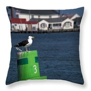 Marking The Channel Throw Pillow