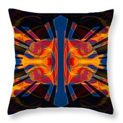 Marking Time Into Space Abstract Spiritual Artwork Throw Pillow