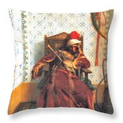 Markos Botsaris Throw Pillow by Jean Leon Gerome