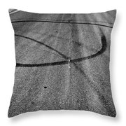 Marks In Our Road  Throw Pillow