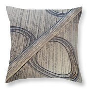 Marks On The Ground Aerial Photography Throw Pillow