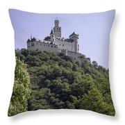 Marksburg Castle 14 Throw Pillow