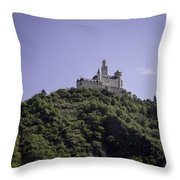 Marksburg Castle 16 Squared Throw Pillow