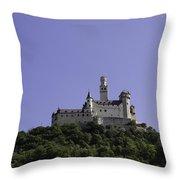 Marksburg Castle 19 Throw Pillow