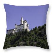 Marksburg Castle 24 Squared Throw Pillow