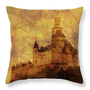 Marksburg Castle In The Rhine River Valley Throw Pillow