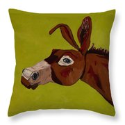 Marlene The Mule Throw Pillow