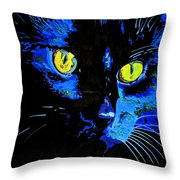 Marley At Midnight Throw Pillow