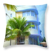 Marlin Hotel Side View Throw Pillow