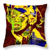 marlyn goes to Venice  Throw Pillow