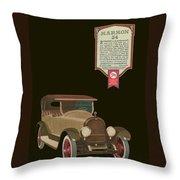 Marmon 34  - Vintage Poster Throw Pillow