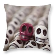 Maroon And White Throw Pillow