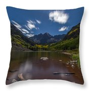 Maroon Bells At Night Throw Pillow