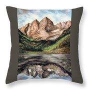 Maroon Bells Colorado - Landscape Throw Pillow