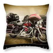 Maroon Electra Glide Classic Throw Pillow