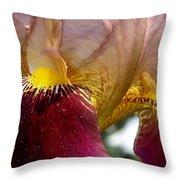 Maroon Iris Throw Pillow