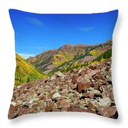 Maroon Valley Throw Pillow