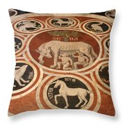 Marple Floor - Cathedral Siena Throw Pillow