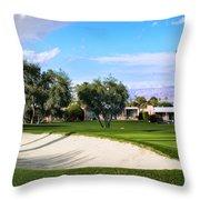Marrakesh Golf Palm Springs Throw Pillow