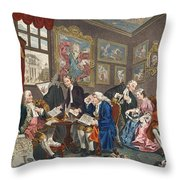 Marriage A La Mode, Plate I, The Throw Pillow