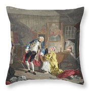 Marriage A La Mode, Plate V, The Throw Pillow
