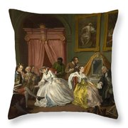 Marriage A-la-mode  The Toilette Throw Pillow