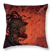 Mars Throw Pillow by Hans Thoma