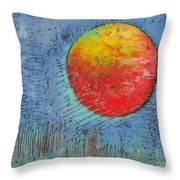 Mars On Black Throw Pillow