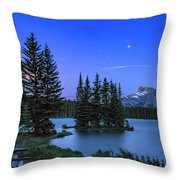 Mars Over Mt. Rundle Throw Pillow