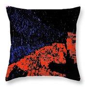 Mars Red Mountain Throw Pillow