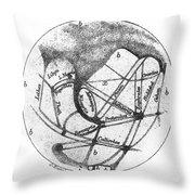 Mars: Schiaparelli, 1877 Throw Pillow