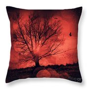 Mars Tree Throw Pillow