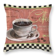 Marsala Coffee 1 Throw Pillow