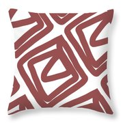 Marsala Envelopes- Abstract Pattern Throw Pillow
