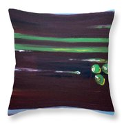 Marsala Triad 3 Throw Pillow