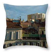 Marseilles Houses Throw Pillow